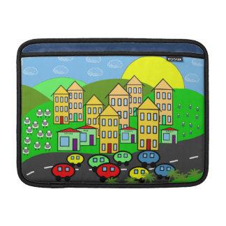 Cartoon City MacBook Sleeve