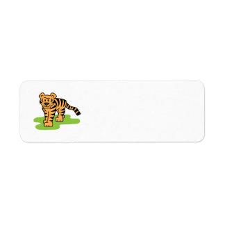 Cartoon Clip Art Bengal Tiger Big Cat with Stripes