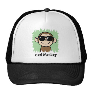 Cartoon Clip Art Cool Monkey with Sunglasses Cap