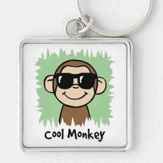 Cartoon Clip Art Cool Monkey with Sunglasses Keychain
