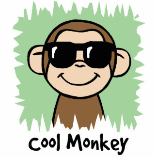 Cartoon Clip Art Cool Monkey with Sunglasses Cut Out