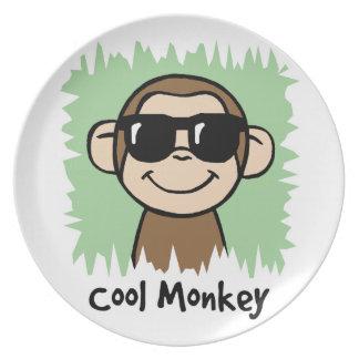 Cartoon Clip Art Cool Monkey with Sunglasses Plate
