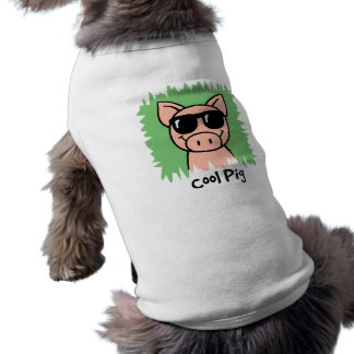 Cartoon Clip Art Cool Pig with Sunglasses Shirt