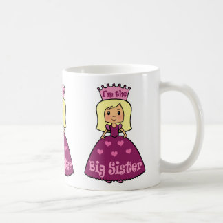 Cartoon Clip Art Cute Big Sister Princess Hearts Coffee Mug