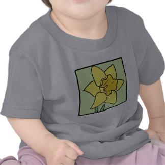 Cartoon Clip Art Daffodil Spring Garden Flower T-shirt