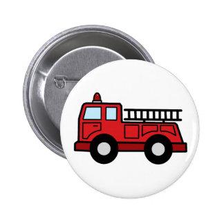 Cartoon Clip Art Firetruck Emergency Vehicle Truck 6 Cm Round Badge