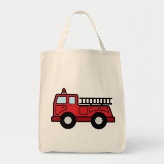 Cartoon Clip Art Firetruck Emergency Vehicle Truck Canvas Bag