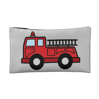 Cartoon Clip Art Firetruck Emergency Vehicle Truck Cosmetics Bags