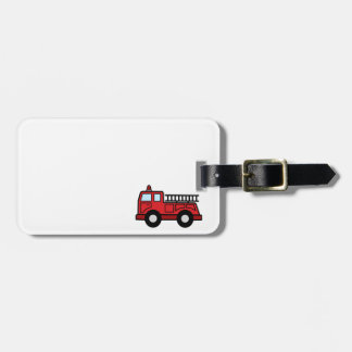 Cartoon Clip Art Firetruck Emergency Vehicle Truck Bag Tag