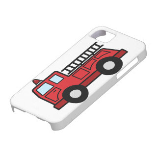 Cartoon Clip Art Firetruck Emergency Vehicle Truck Barely There iPhone 5 Case