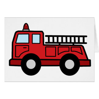 Cartoon Clip Art Firetruck Emergency Vehicle Truck Card