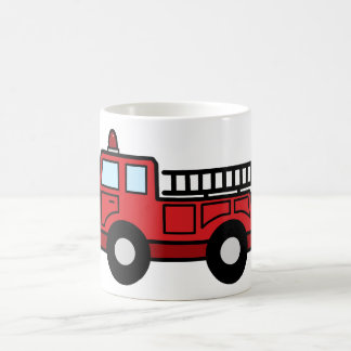 Cartoon Clip Art Firetruck Emergency Vehicle Truck Coffee Mug