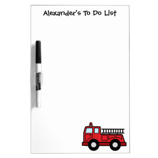 Cartoon Clip Art Firetruck Emergency Vehicle Truck Dry Erase Whiteboard