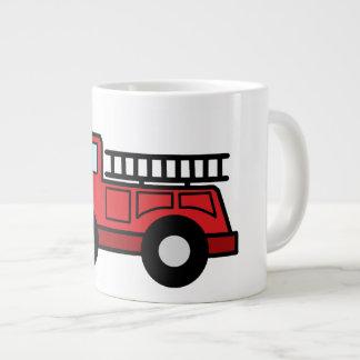 Cartoon Clip Art Firetruck Emergency Vehicle Truck Jumbo Mug