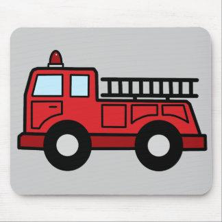 Cartoon Clip Art Firetruck Emergency Vehicle Truck Mouse Pad