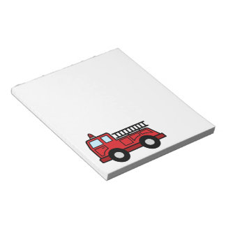 Cartoon Clip Art Firetruck Emergency Vehicle Truck Notepad