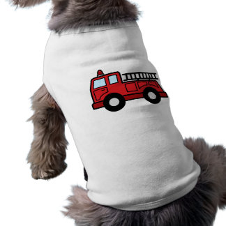 Cartoon Clip Art Firetruck Emergency Vehicle Truck Sleeveless Dog Shirt