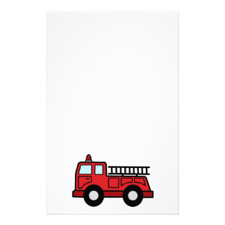 Cartoon Clip Art Firetruck Emergency Vehicle Truck Stationery Design