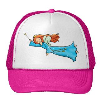 Cartoon Clip Art Flying Fairy Princess Magic Wand Trucker Hat