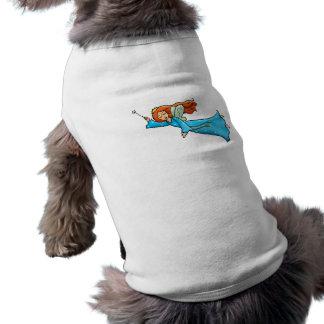 Cartoon Clip Art Flying Fairy Princess Magic Wand Sleeveless Dog Shirt
