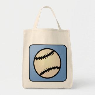Cartoon Clip Art Sports, Baseball, Blue Background Canvas Bags