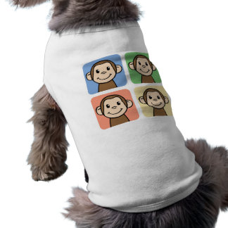 Cartoon Clip Art with 4 Happy Monkeys Shirt