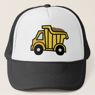 Cartoon Clip Art with a Construction Dump Truck Trucker Hat