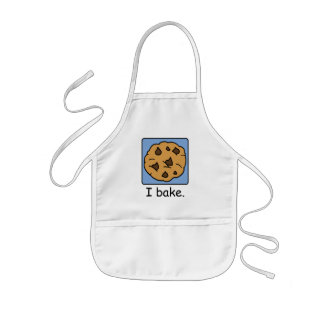 Cartoon Clip Art Yummy Chocolate Chip Cookie Kids Apron