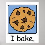 Cartoon Clip Art Yummy Chocolate Chip Cookie Print