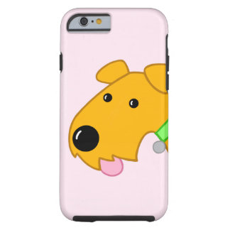 Cartoon Closeup Airedale Dog iPhone 6/6s Case
