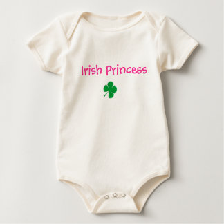 cartoon clover, Irish Princess Baby Bodysuit