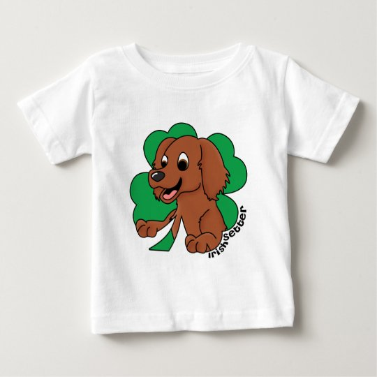 Cartoon Clover Irish Setter Baby's Baby T-Shirt