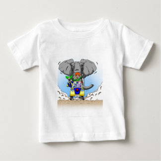 Cartoon Clown Chase by Ben Jones Baby T-Shirt