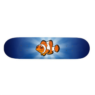 Cartoon Clownfish Custom Skate Board