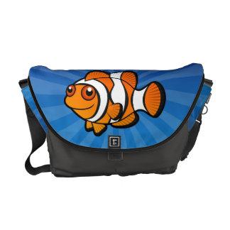 Cartoon Clownfish Messenger Bags
