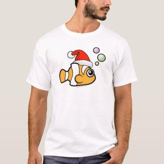Cartoon Clownfish Santa T-Shirt