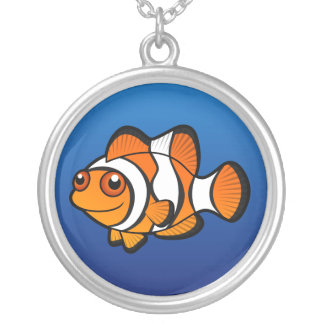 Cartoon Clownfish Silver Plated Necklace