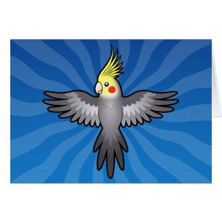 Cartoon Cockatiel Card
