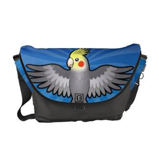 Cartoon Cockatiel Commuter Bags