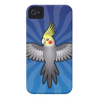 Cartoon Cockatiel iPhone 4 Case-Mate Cases