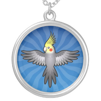 Cartoon Cockatiel Silver Plated Necklace