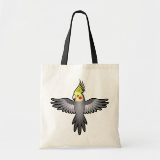 Cartoon Cockatiel Tote Bag