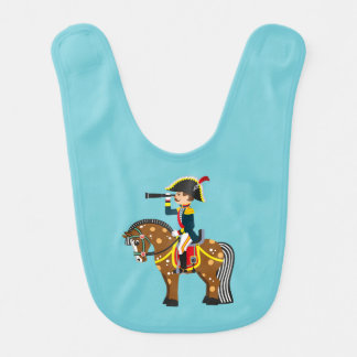 cartoon coldier bib