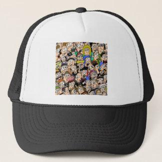 Cartoon Colour Crowd Scene by Sam Backhouse Trucker Hat