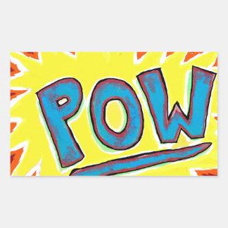 Cartoon & Comics Sound Effect POW! Rectangular Sticker