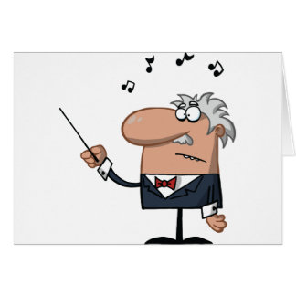 Cartoon Conductor Greeting Cards
