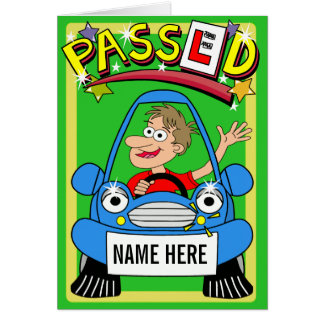 Cartoon Congratulations On Passing Driving Test Card