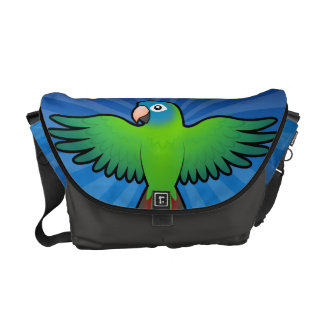 Cartoon Conure / Lorikeet / Parrot Courier Bags