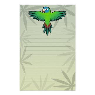 Cartoon Conure / Lorikeet / Parrot Personalized Stationery