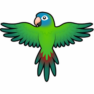 Cartoon Conure / Lorikeet / Parrot Photo Sculpture Magnet